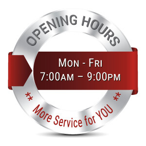 extra long opening hours